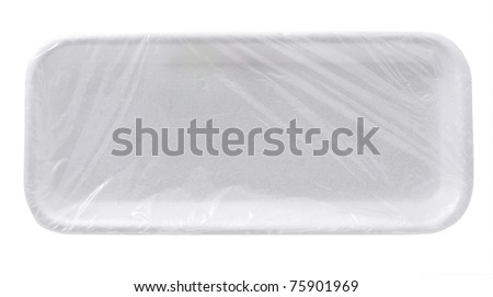 Empty plastic container isolated on white background - stock photo