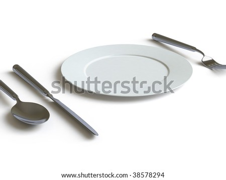 Empty plate. In my portfolio there is collection of pictures of tablewares. You only enter IN a SEARCH the Photographer Name: PAVEL IGNATOV and keyword: TABLEWARE - stock photo