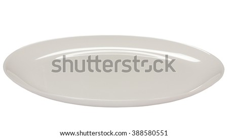 Empty plate isolated at white background