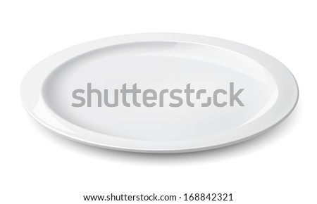 Empty plate isolated on a white. Illustration
