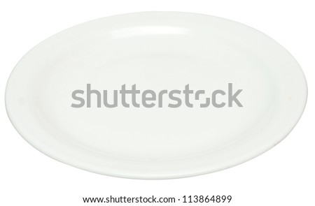 empty plate isolated on white (series) - stock photo