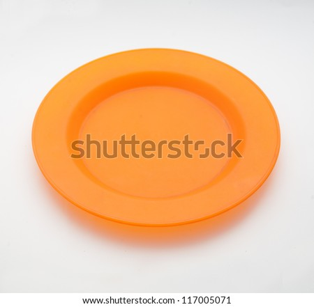 empty plate on a white paper