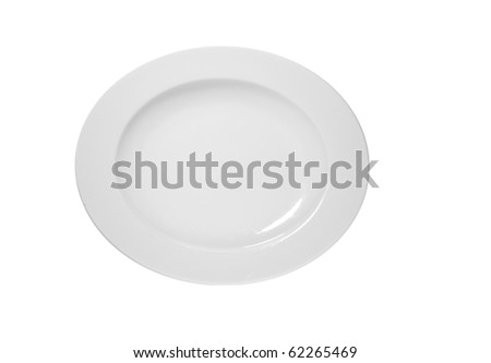 empty plate white background