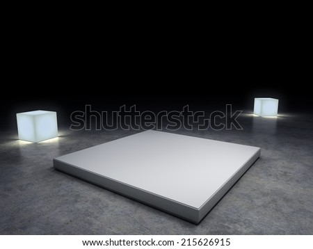 empty plinth to place your product. With clipping path - stock photo