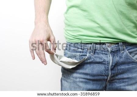Empty pockets - stock photo