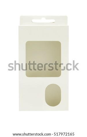 Empty Product Package Box With Windows on White background