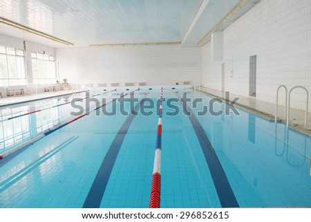 Empty public swimming pool - stock photo