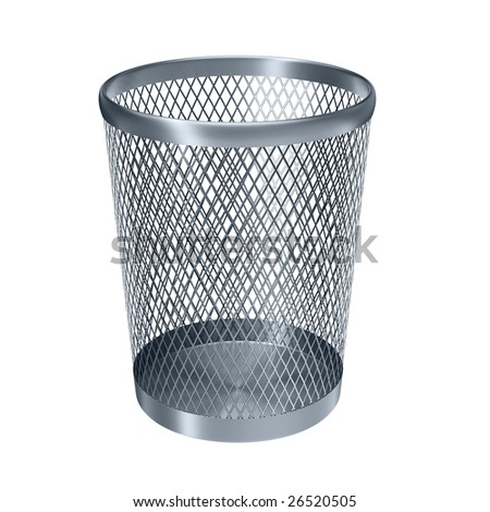 empty recycle bin isolated on white