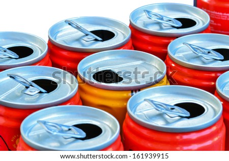 Empty recycle cans - stock photo