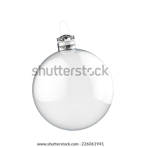 Empty red Christmas ornament - stock photo