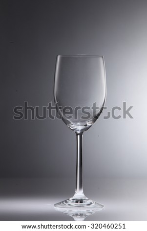 Empty red white wine glass