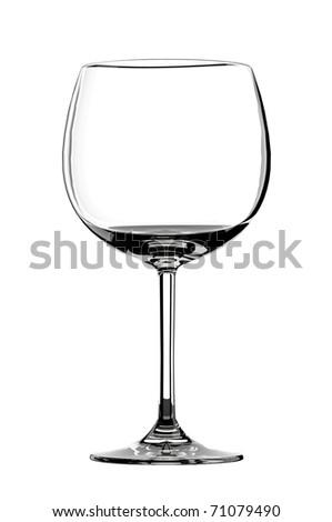 Empty red wine glass - stock photo