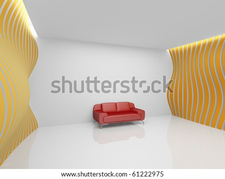 Empty relaxation room in minimalist style