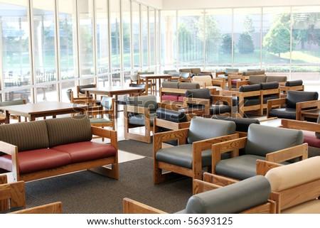 Empty resting area - stock photo