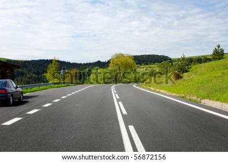 Empty road - stock photo