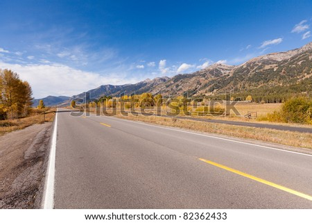 empty road in grand teton national park