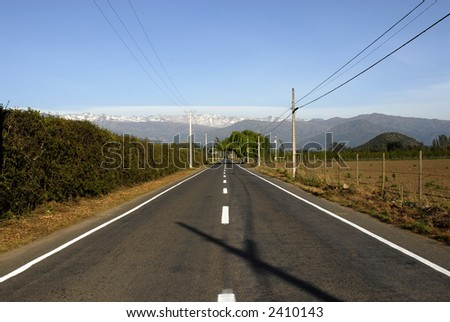 empty road view at dusk - stock photo