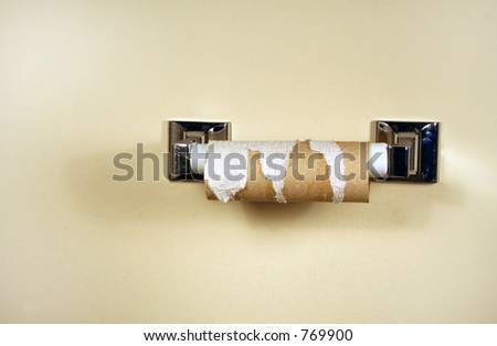 Empty Roll - stock photo