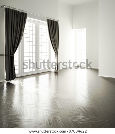 empty room - stock photo