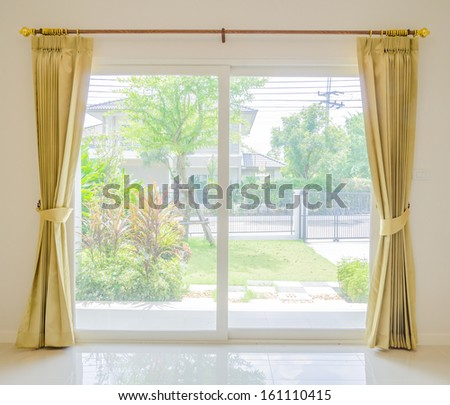 Empty room and blinds interior - stock photo