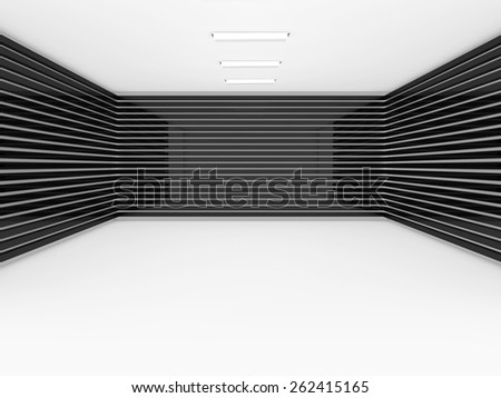empty room 3D rendering - stock photo