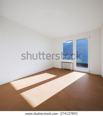 Empty room in modern apartment - stock photo