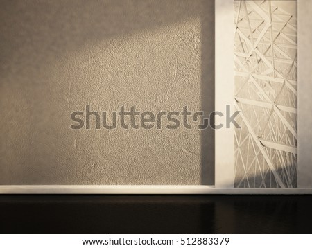 empty room in white and gray colors, 3d rendering