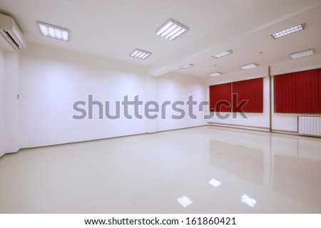 empty room interior - stock photo