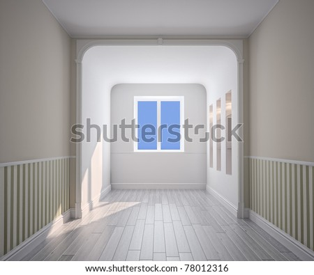 empty room interior (computer generated image)