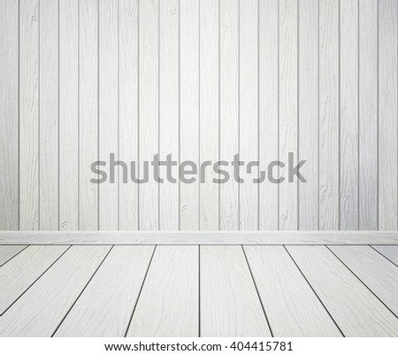 empty room interior with wood wall and floor - stock photo
