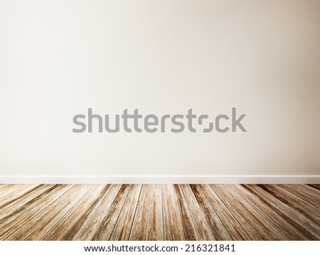 Empty room of white wall and White Wall