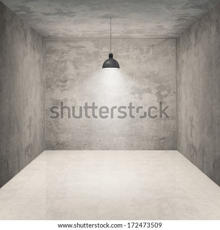 empty room to place your concept, object or idea - stock photo