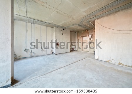 Empty room under repair - stock photo