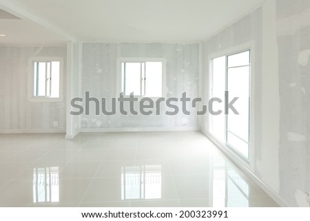 Empty room unfinished room - stock photo