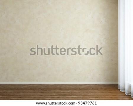 Empty Room Wall - stock photo