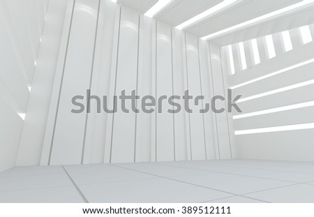 Empty room White style interior, interior design background, abstract architecture background, 3D Rander
