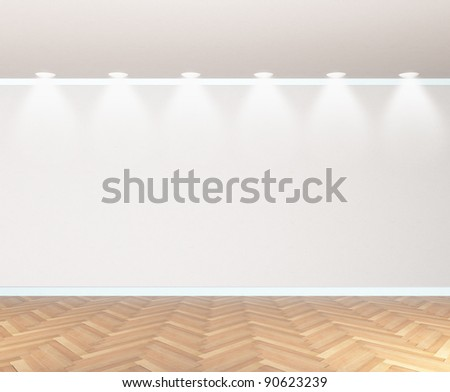 empty room with a parquet - stock photo