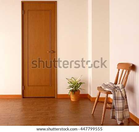 empty room with chair - stock photo