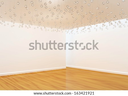Empty room with glass furnishings  - stock photo