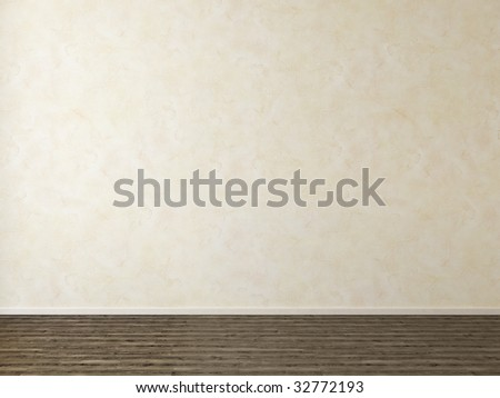 Empty room with stucco wall - more variations of this picture in portfolio