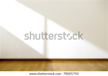 Empty room with sun light - stock photo