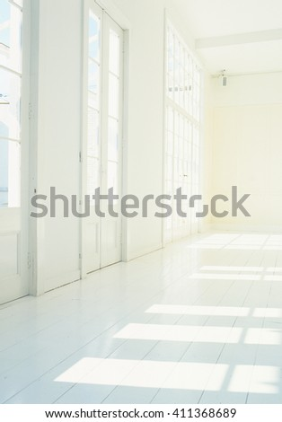 Empty room with sunlight - stock photo