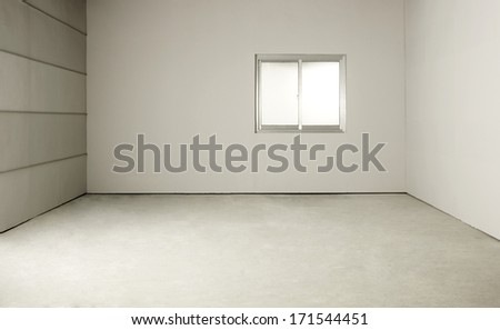 empty room with window  - stock photo