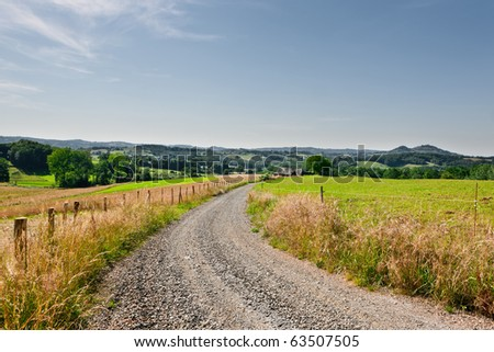 Empty rural road