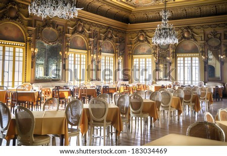 empty salon hall  - stock photo
