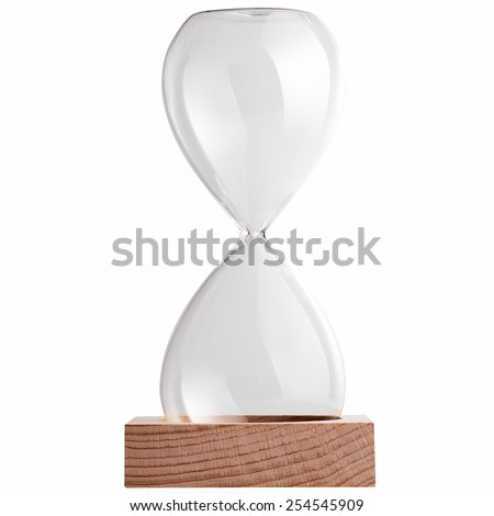 empty sand clock, include path - stock photo
