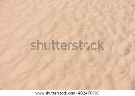 Empty sand on the beach for textures and background