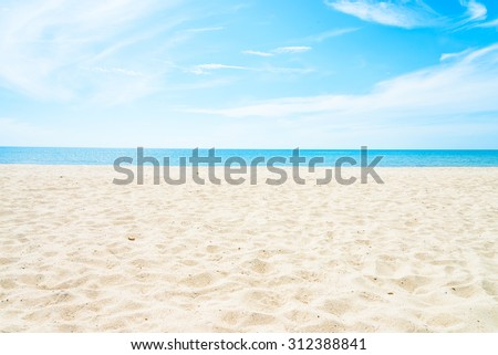 Empty sea and beach background with copy space - stock photo