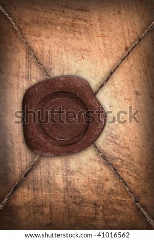 empty sealing wax stamp - stock photo