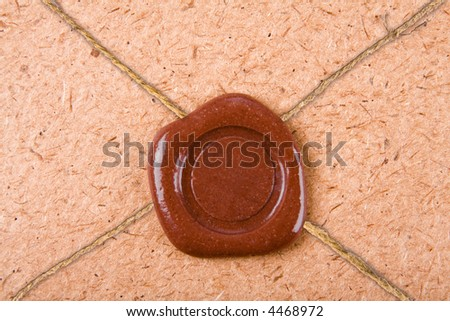 empty sealing wax stamp - stock photo